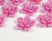 Sakura Flower Cabochon Purple 6pcs