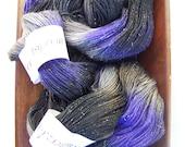 Purple Twilight  - 435 Yards Sparkles Fingering Weight Yarn - Merino Wool/Nylon/Stellina - 2 ply
