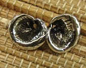 Calla Lilly - Rustic Sterling Silver Blossoms - One Pair - fccl