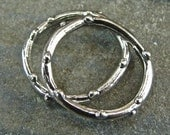 Artisan Sterling Silver Knobby Circle Links - lakcpr/pc
