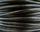 Premium Quality Leather Cord - Black 2mm Round Leather Cord - 10 Yards - QUANTITY DISCOUNT - b2mm10q