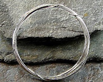 24 Gauge Sterling Silver Wire - Bright Finish - Five Feet