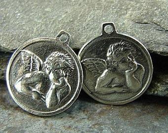 Cherub - Sterling Silver Angel Charms - ccoad