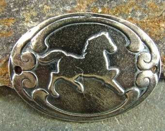 SALE CowGirl - Sterling Silver Horse Link - One Piece
