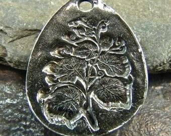 SALE Botanical - Artisan Sterling Silver Pendant - One Piece
