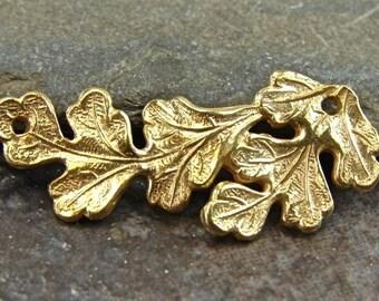 Vintage Oak - 24K Gold Vermeil Oak Leaf Link - One Piece - nkcpvov
