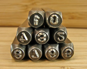Number Stamps For Metal Jewelry - 3MM Set