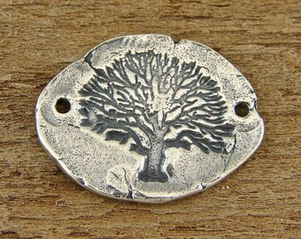 Tree of Life - Rustic Artisan Sterling Silver Link - One Piece - blrtl