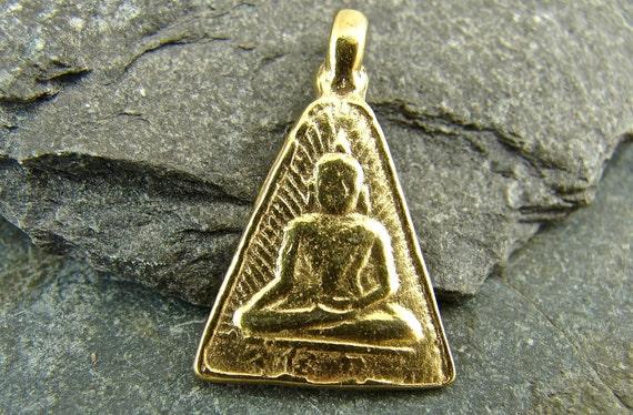 Buddha Relic - 24K Gold Vermeil Buddha Pendant - One Piece - pbrtv