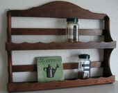tiered wooden shelf for spices or display