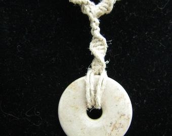 Stone Pendant Hemp Necklace (24in.) (On Sale)