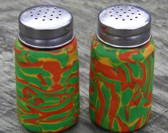 Rastaman Polymer Clay Salt N Pepper Shakers (Set of two) (One of a Kind)