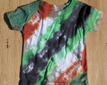Camouflage Tie Dye Baby T-Shirt (Rabbit Skins 6 Months) (One of a Kind)