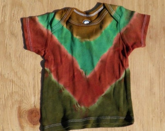 Camouflage V-Stripe Tie Dye Baby T-Shirt (Gerber 12 Months) (One of a Kind)
