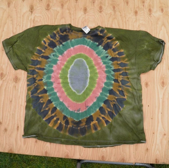 Camouflage Egg Tie Dye T-Shirt (Fruit of the Loom Size 4XL) (One of a Kind)