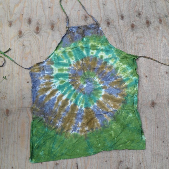 Camouflage Spiral Tie Dye Apron (Adult Size 100% Cotton) (One of a Kind)