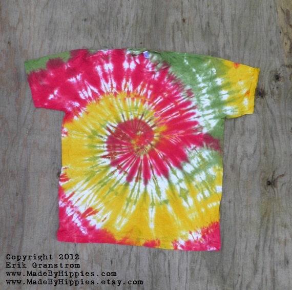Rastaman Spiral Tie Dye T-Shirt (Size XL) (American Apparel Organic Cotton) (One of a Kind)