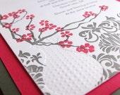 Hobnail Vase Letterpress Wedding Invites