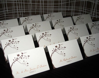 Tree with Leaves Seating Cards