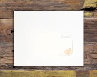 Mason Jar Letterpress Art Print