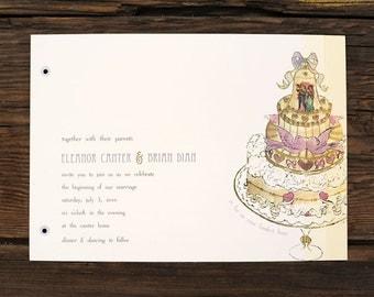 Layered Wedding Cake Wedding Invitations
