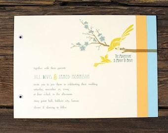 Art Deco Love Birds Wedding Invitations