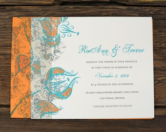 Layered Urban Floral - Wedding Invitation Set