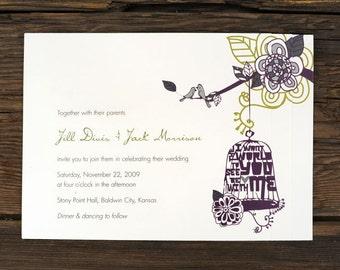 Art Deco Birdcage Wedding Invitations