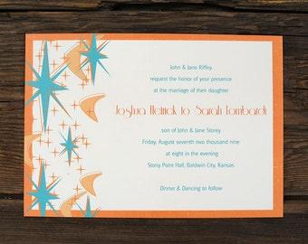 Retro Mod Wedding Invitations