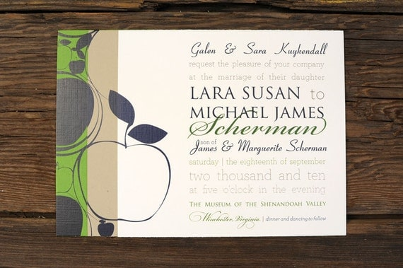 Apple Swirls Wedding Invitations
