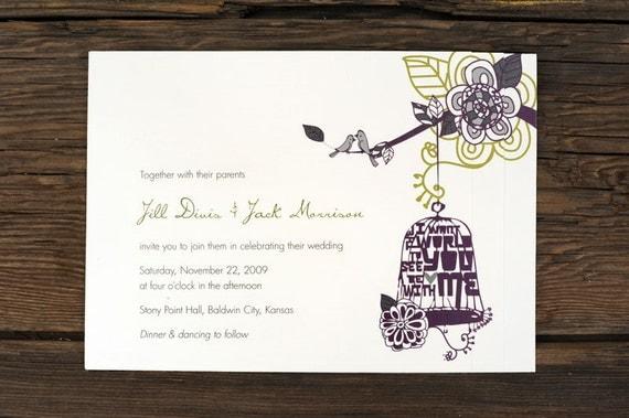 Wedding Invitations Birdcage: Art Deco Birdcage Wedding Invitations By Ruffhouseart On Etsy