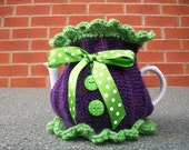 Hand Knitted Tea Cosy... Lime Daze