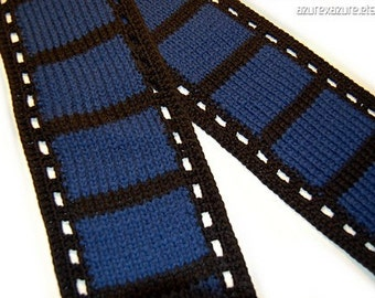 PATTERN - The Film Geek Filmstrip Scarf (PDF Data)