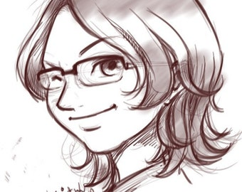 Manga/Anime(or more regular)  Portrait Commission - Sketch (digital copy)