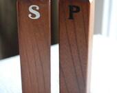 Rectangular Wood Salt and Pepper Shakers