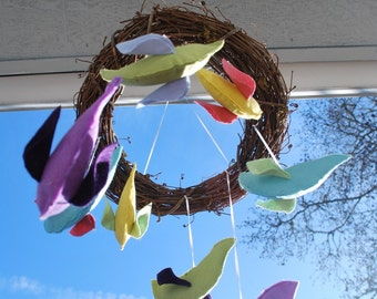 Springtime Bird Mobile