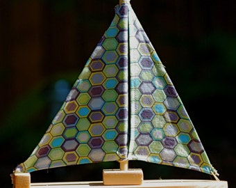 Honeycomb Wooden Sailboat
