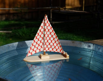 Dotty for You Wooden Sailboat