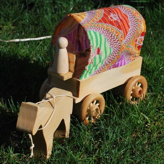The Fortune Teller's Wagon with horse and driver