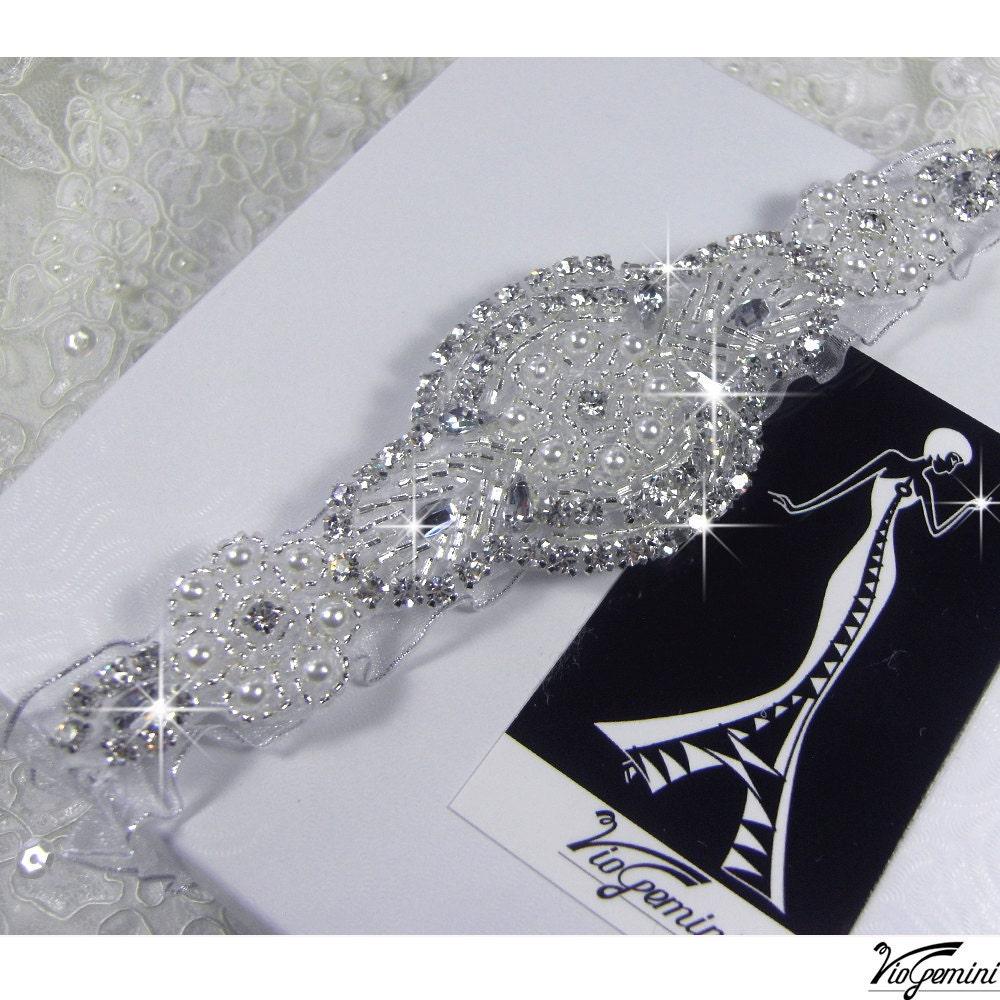 Making A Wedding Garter: Rhinestone Wedding Garter Set Keepsake Garter Toss Garter