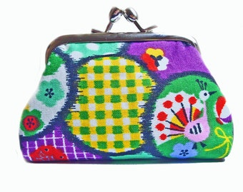 Kisslock Coin Purse - Toys and Circles