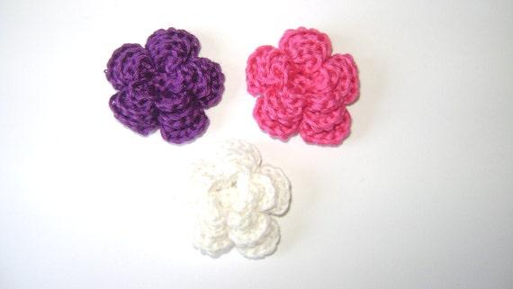 Crochet Flower Scrapbooking/Applique/Embellishment