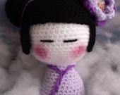 Kimiko The Kokeshi Doll - A PDF Amigurumi Crochet Pattern