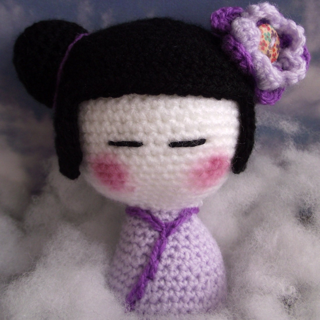 Kokeshi Doll Knitting Pattern : Kimiko The Kokeshi Doll A PDF Amigurumi Crochet Pattern