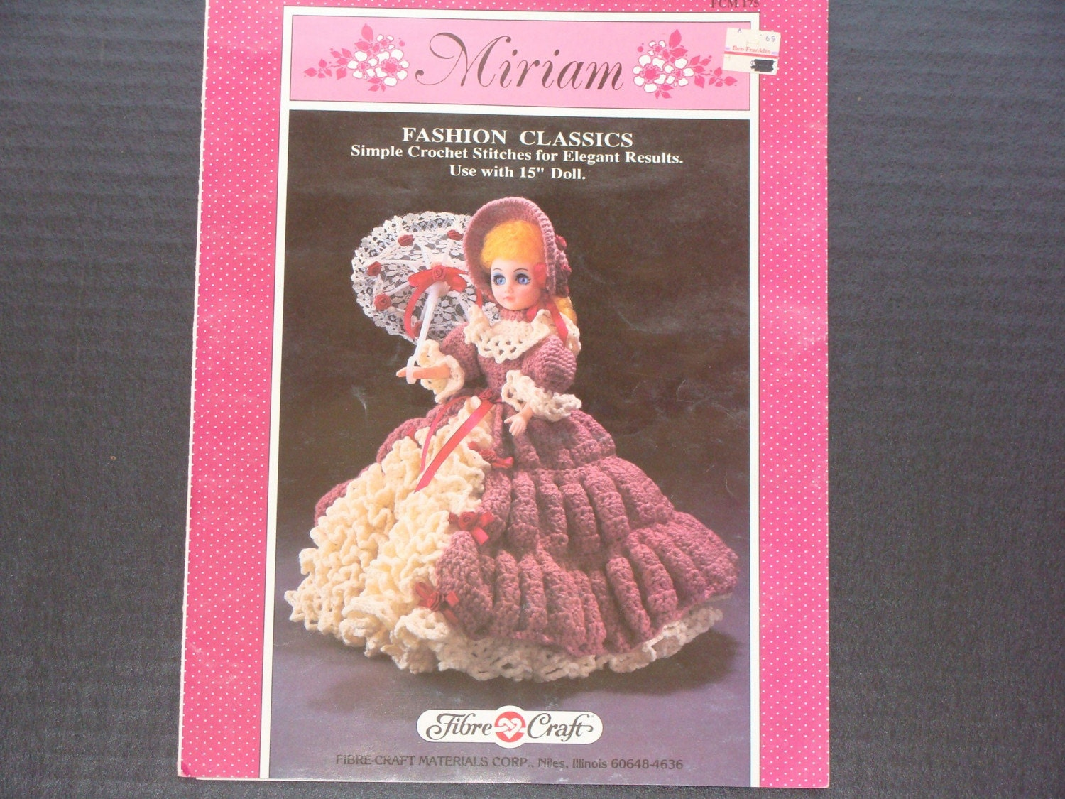 Fibre craft miriam 15 inch doll pattern booklet for Fibre craft 18 inch doll