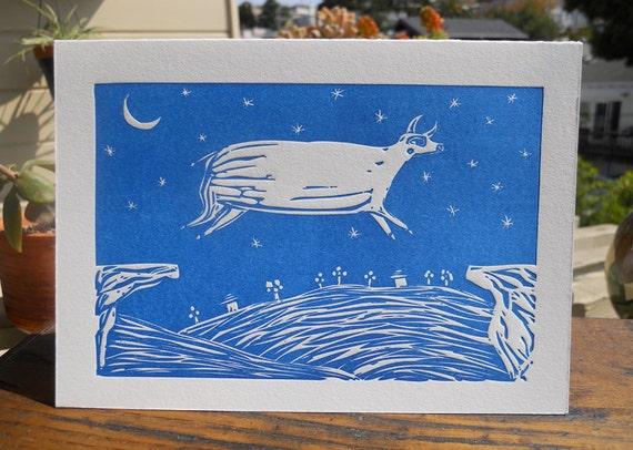 Jumping Cow - 5 cards