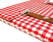 iPad / iPad Air case - red and white gingham wool