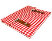 """13"""" / 15 MacBook Pro / Pro Retina sleeve - red and white vintage gingham"""