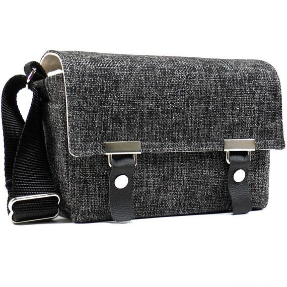 Last one 50% off - Camera messenger bag - small - dark gray tweed