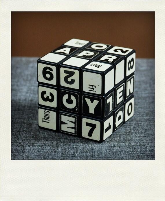 Perpetual Calendar Cube : Perpetual desk calendar rubik s cube by olivestreet on etsy